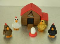 Chicken Coop & Chickens Cake Toppers